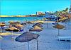 Monastir : la spiaggia a destra del porto