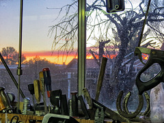 Sunrise In A Garage