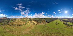 Glen Prosen - Angus Glens - Scotland - Aerial Photosphere 02-10-2016