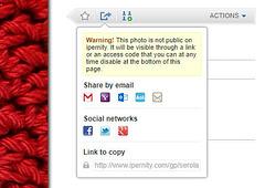 Share private photo, album or article