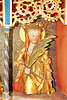 Kraak, Altar der Johanniterkirche, Heilige Frau mit Palmenzweig und Rad