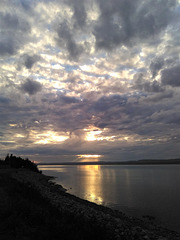 Ciel somnolent de la Côte Nord au Québec