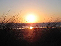 A sunset taken from the sand dunes