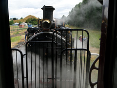 Locomotive, Seen from Car, Gisbourne, New Zealand
