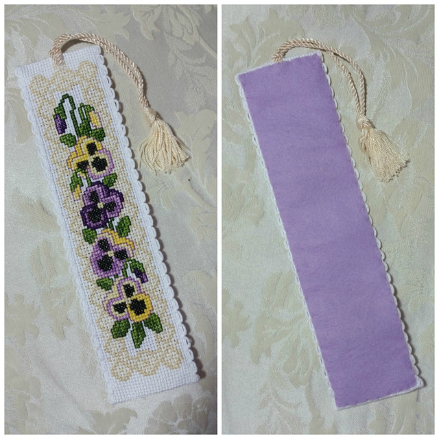 Victorian Pansies Bookmark 4/23/17