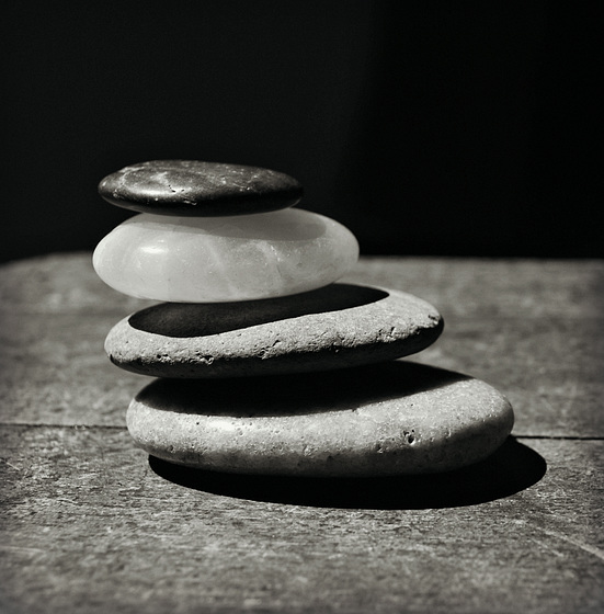 Perfect Balance in Monochrome