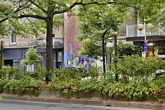 The Mural at Number 808 – Atwater Street between St-Antoine below St-Antoine, Montréal, Québec