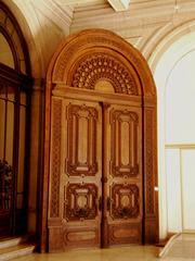 Door preserved for display.