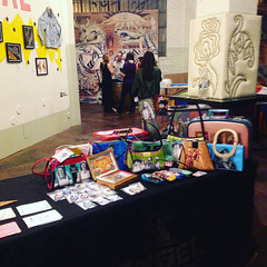My wares at art show, 11/10/16