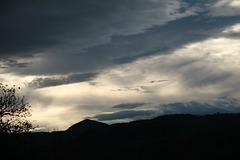 De ma fenêtre : ciel chargé.