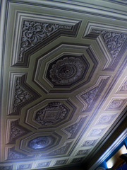 Painted ceiling - no relief.