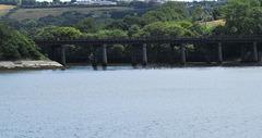 rail bridge across tamerton lake, devon