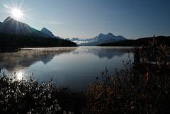 Maligne Lake early morning, freezing cold....
