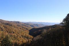 Leaving Cherokee, North Carolina up into the Smokey Mountains,  to  Gatlinburg, Tennessee  USA