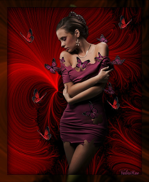 Rouge  papillon*************