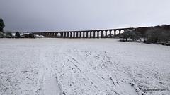 The Culloden viaduct at Clava in winter
