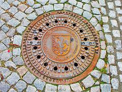 Wusterhausen (Dosse), Kanaldeckel