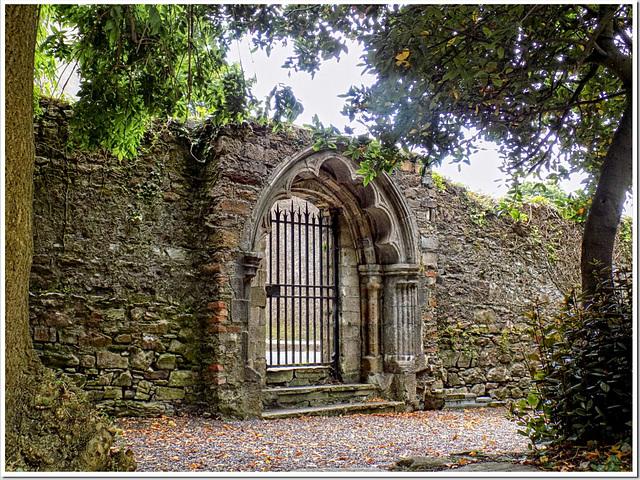 Beau portail (jardin de la Cathédrale St Finn Barr)