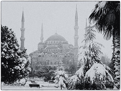 Snow over Instanbul