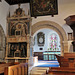 tissington church, derbs (31)tomb of francis +1619 and sir john +1643 fitzherbert next to c12 chancel arch