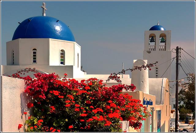 Santorini : Chiesa greco ortodossa - (986)