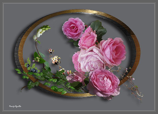 Rosas con orla