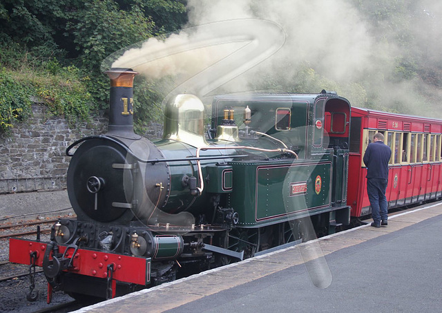 Lokomotivo de la Isle of Man Steam Railway
