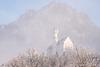 Schloss Neuschwanstein im Winter bei Nebel