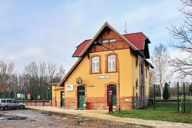 """Klütz, Bahnhofsgebäudes des """"Kaffeebrenners"""""""