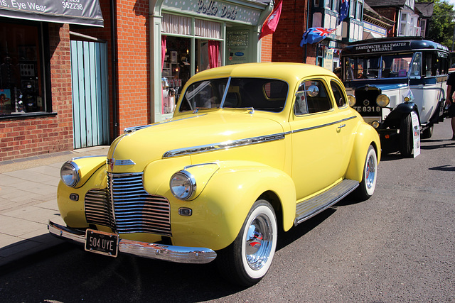 Found a  car with the steering wheel on the wrong side for Sarah O'  (  1940 Chevrolet    Coupe )