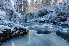 Geratser Wasserfall im Winter