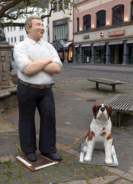 """Christel Lechner: """"Großer Mann mit Hund"""" (PiP)"""