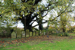 Autumn in Holy Trinity Collegiate Church yard ~  Tattershall ~ Lincolnshire
