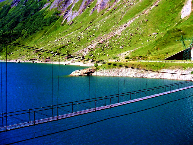 Mountains lakes SPC 6 2017 Hanging bridge over the Lake
