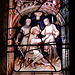 Detail of stained glass, Ashover Church, Derbyshire