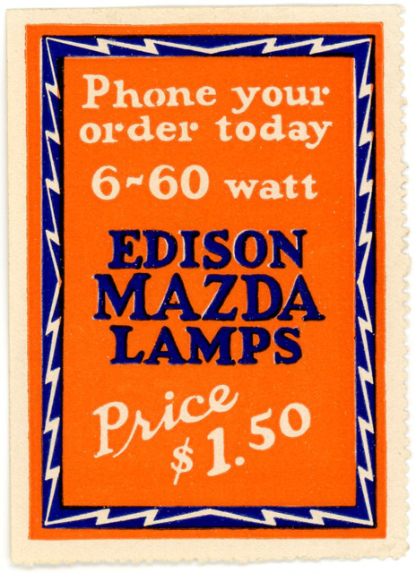 Edison Mazda Lamps Poster Stamp