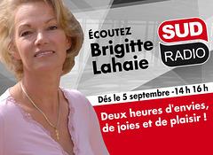 Brigitte Lahaie sur Sud Radio