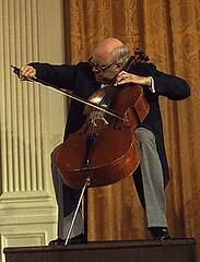 Mstislav Rostropovich à la Maison Blanche