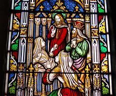 Detail of West Window by William Warrington, Ashover Church, Derbyshire