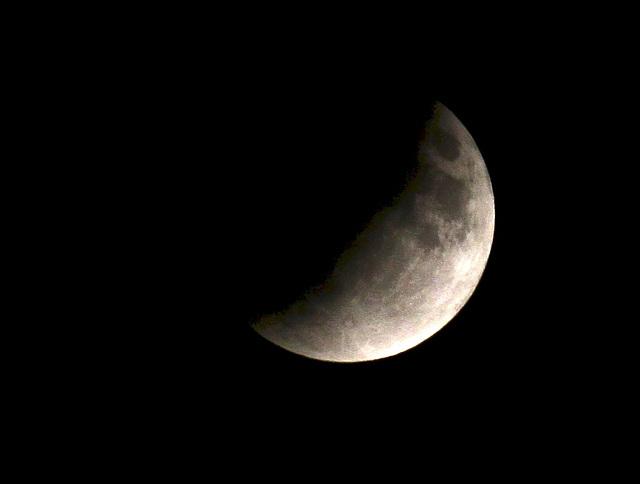 Partielle Mondfinsternis um 22 Uhr 55