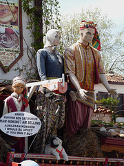 Sirince- Mannequins at a Cafe with Strong Message
