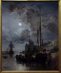 Marine , huile sur toile de Jules Noël