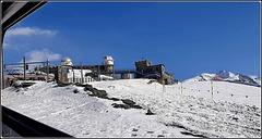 Zermatt : l'Osservatorio Gornengrat - qui arriva il treno a cremagliera  a 3200 mt.