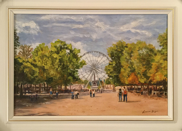 La grande roue Paris 2016 huile 12 x 18