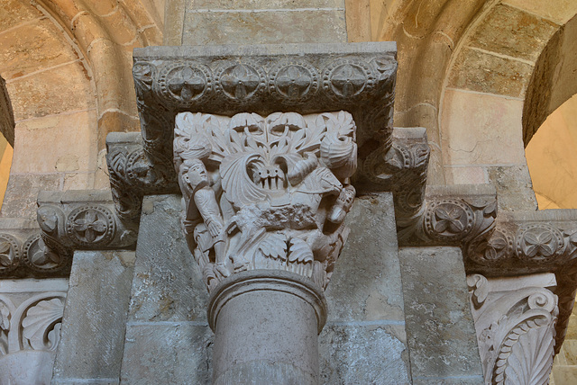 Vezelay, chapiteau, La mort d'Absalon