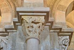 Vezelay, chapiteau, David et Goliath