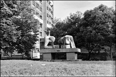 Henry Moore. Two Piece Reclining Figure No.3, Brandon Estate, Kennington.
