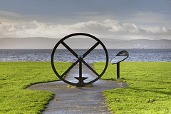 'Comet' Fly Wheel on the Bank of the River Clyde