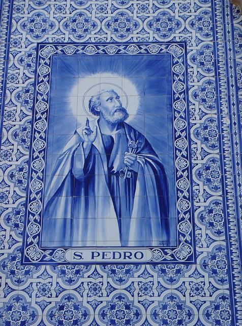 S. Pedro, facade detail of the church of the same name