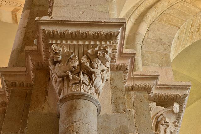 Vezelay, chapiteau, Le combat fabuleux